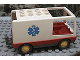 Part No: 6416c01pb01  Name: Duplo Van Type 1 with Red Base and EMT Star of Life Pattern (Ambulance)