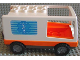 Part No: 6416c03pb01  Name: Duplo Van Type 1 with Orange Base and EMT Star of Life on Stripes Pattern (Ambulance)