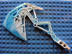 Part No: 64268pb01  Name: Bionicle Weapon Broad Axe with Marbled Trans-Light Blue Pattern (Strakk)