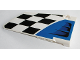 Part No: 64682pb015  Name: Technic, Panel Fairing #18 Large Smooth, Side B with Air Intake and Checkered Black and White Pattern (Sticker) - Set 42045