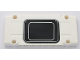 Part No: 64782pb027  Name: Technic, Panel Plate 5 x 11 x 1 with Black Rectangle with Rounded Corners and 2 Silver Stripes Pattern (Sticker) - Set 42043
