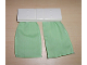 Part No: 6483pb01  Name: Duplo Furniture Curtain Plate 2 x 6 with Medium Green Cloth Curtains