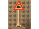Part No: 649pb06a  Name: Road Sign Triangle with Train Engine with Cab Window Pattern