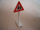 Part No: 649pb07  Name: Road Sign Triangle with Children Playing Pattern
