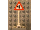 Part No: 649pb08a  Name: Road Sign Triangle with Skidding Car Pattern (Old Car with Tire on Back)