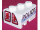 Part No: 6564pb01  Name: Wedge 3 x 2 Right with Taillights and 'POLICE' on White/Blue Background Pattern (Stickers) - Set 8230