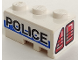 Part No: 6565pb01  Name: Wedge 3 x 2 Left with Taillights and 'POLICE' on White/Blue Background Pattern (Stickers) - Set 8230