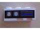 Part No: 6565pb06  Name: Wedge 3 x 2 Left with Blue and Red Arrows and Horizontal Bars Pattern (Sticker) - Set 8286