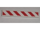 Part No: 6636pb020L  Name: Tile 1 x 6 with Red and White Danger Stripes Pattern Left (Sticker) - Set 7592