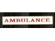 Part No: 6636pb095  Name: Tile 1 x 6 with Dark Red 'AMBULANCE' Pattern (Sticker) - Set 7785
