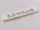 Part No: 6636pb185  Name: Tile 1 x 6 with 4 Silver Nails and 'S.S.WILLIE' Pattern