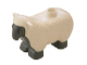 Part No: 6678pb01  Name: Duplo Sheep with Dark Bluish Gray Face, Chest, Stomach and Feet Pattern