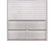 Part No: 700e  Name: Brick 10 x 20 without Bottom Tubes, with '+' Cross Support and 4 Side Supports (early Baseplate)