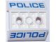 Part No: 72454pb001  Name: Slope, Inverted 45 4 x 4 Double with 2 Holes with blue 'POLICE' Pattern on Both Sides (Stickers) - Set 60047