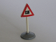 Part No: 747p03c01  Name: Road Sign Old Triangle with Level Crossing Pattern & Type 1 Base