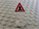Part No: 747pb02c01  Name: Road Sign Old Triangle with Man Crossing Pattern & Type 1 Base