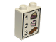 Part No: 76371pb006  Name: Duplo, Brick 1 x 2 x 2 with Bottom Tube with 1 Sandwich 2 Cake 3 Bread Pattern