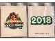 Part No: 76371pb132  Name: Duplo, Brick 1 x 2 x 2 with Bottom Tube with Legoland Florida Resort Brick Dash 5K 2018 Pattern