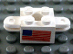 Part No: 792c03pb02  Name: Arm Holder Brick 2 x 2 with Hole and 2 Arms with American Flag Pattern (Sticker)