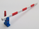Part No: 815c01  Name: Train Level Crossing Gate Type 1, Assembly with Blue Base & Red Handle (Right)