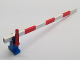 Part No: 815c02  Name: Train Level Crossing Gate Type 1, Assembly with Blue Base & Red Handle (Left)