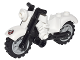 Part No: 85983c01pb01  Name: Motorcycle Vintage, Complete Assembly with Black Chassis and Light Bluish Gray Wheels with Ghostbusters Logo Pattern (Sticker) - Set 75828
