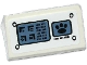 Part No: 85984pb088  Name: Slope 30 1 x 2 x 2/3 with Control Panel with Rivets and Alien Characters and Paw Print on Screens Pattern (Sticker) - Set 70223