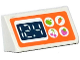 Part No: 85984pb107  Name: Slope 30 1 x 2 x 2/3 with Apple, Carrot, Cherry and Strawberry in White Circles and '12.4' Digital Display Pattern (Sticker) - Set 41108