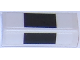 Part No: 85984pb122  Name: Slope 30 1 x 2 x 2/3 with Thick Black Stripes on White Background Pattern (Stickers) - Set 75874