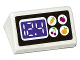 Part No: 85984pb130  Name: Slope 30 1 x 2 x 2/3 with Apple, Carrot, Cherry and Lemon in White Circles and '12.4' Digital Display Pattern (Sticker) - Set 41118