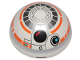 Part No: 86500pb06  Name: Cylinder Hemisphere 4 x 4 with BB-8 Droid Pattern