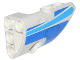 Part No: 87086pb024  Name: Technic, Panel Fairing # 2 Small Smooth Short, Side B with Curved Blue Stripes and Blue Panel Pattern (Sticker) - Set 42025