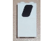 Part No: 87544pb004L  Name: Panel 1 x 2 x 3 with Side Supports - Hollow Studs with Black Window Pattern Model Left Side (Sticker) - Set 8638