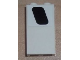 Part No: 87544pb004R  Name: Panel 1 x 2 x 3 with Side Supports - Hollow Studs with Black Window Pattern Model Right Side (Sticker) - Set 8638