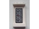Part No: 87544pb007  Name: Panel 1 x 2 x 3 with Side Supports - Hollow Studs with Controls Pattern on Inside (Sticker) - Set 8639