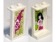 Part No: 87544pb032  Name: Panel 1 x 2 x 3 with Side Supports - Hollow Studs with Girl on Inside and Magenta and White Flower on Outside Pattern (Stickers) - Set 41058