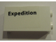 Part No: 87544pb038R  Name: Panel 1 x 2 x 3 with Side Supports - Hollow Studs with 'Expedition' Pattern Model Right Side (Sticker) - Set 10231