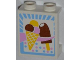 Part No: 87552pb007  Name: Panel 1 x 2 x 2 with Side Supports - Hollow Studs with Ice Cream Cone and Popsicle Pattern (Sticker) - Set 3061