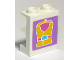Part No: 87552pb034  Name: Panel 1 x 2 x 2 with Side Supports - Hollow Studs with Yellow Life Jacket Pattern (Sticker) - Set 41015