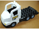 Part No: 87700c03pb01  Name: Duplo Truck Large Cab with Black 4 x 8 Flatbed Plate and Zoo Pattern