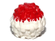 Part No: 87997pb02  Name: Minifigure, Utensil Cheerleader Pom Pom with Red Top Pattern