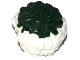 Part No: 87997pb03  Name: Minifigure, Utensil Cheerleader Pom Pom with Dark Green Top Pattern