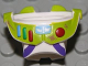Part No: 88064pb02  Name: Minifigure, Spacesuit with Lime Trim and Colored Buttons, Dirt Stains Pattern (Buzz Lightyear)