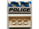 Part No: 88930pb021  Name: Slope, Curved 2 x 4 x 2/3 No Studs with Bottom Tubes with 2 Air Intakes, 'POLICE' and Blue and White Danger Stripes Pattern (Sticker) - Set 7970