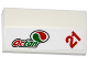 Part No: 88930pb070  Name: Slope, Curved 2 x 4 x 2/3 No Studs with Bottom Tubes with Octan Logo and Red Number '21' Pattern (Sticker) - Set 60115