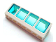 Part No: 89648c02  Name: Window 2 x 8 x 2 Boat with Trans-Light Blue Glass