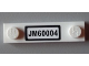 Part No: 92593pb012  Name: Plate, Modified 1 x 4 with 2 Studs with 'JM60004'License Plate  Pattern (Sticker) - Set 60004