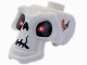 Part No: 93066pb01  Name: Minifigure, Head Modified Skull with Red Eyes, Cracks and Worm Pattern