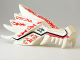 Part No: 93070pb04  Name: Dragon Head (Ninjago) Upper Jaw with Red and Dark Red Fire Spirit Pattern