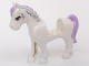 Part No: 93083c01pb07  Name: Horse with 2 x 2 Cutout, Lavender Eyes, Face Decoration, Mane and Tail Pattern